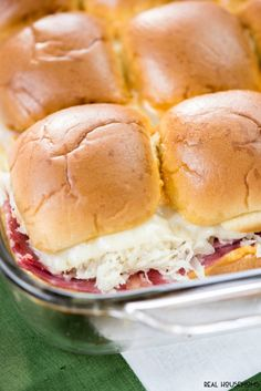 Baked Reuben Sliders are so simple to make and perfect St. Patrick's ...