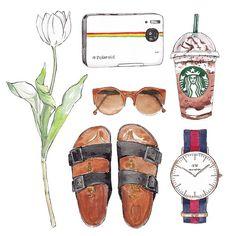 Good objects - summer accessories …@starbucks #starbucks #frapuccino #coffee…