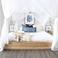 I love canopy beds and I can't stop. @driftwoodinteriors @villastyling through and through Styling & Photography @villastyling with the lovely @the_boho_bungalow