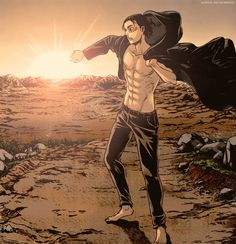 Eren Jaeger, Attack on Titan. Eren E Levi, Eren And Mikasa, Armin, Manga Anime, Dc Anime, Anime Art, Attack On Titan Season, Attack On Titan Eren, Snk Scan