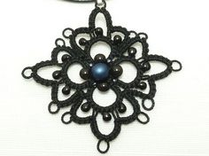 Tatted pendant