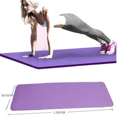 Yoga Mat Exercise Thick Non-slip Gym Fitness Durable Pilates Meditation Pad 4 Colors - book travel Yoga Fashion, Fitness Fashion, Hot Yoga Wear, Gym Mats, Yoga Mats, Mat Exercises, Gym Style, Yoga Lifestyle, Yoga Challenge