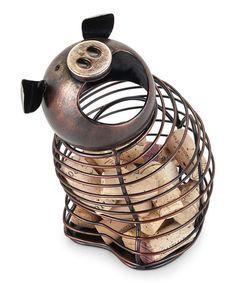 Look what I found on #zulily! Pig Cork Holder #zulilyfinds