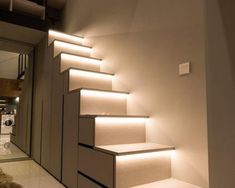 Loft stairs lighted up Staircase Architecture, Loft Stairs, Stair Lighting, Light Up, Home Decor, Decoration Home, Room Decor, Home Interior Design, Stairway Lighting