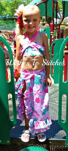 Summer Luau Dress by wishestostitches on Etsy, $30.00