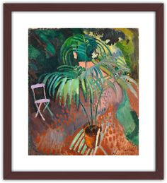 """Poster of """"The Little Palm Tree"""" (Raoul Dufy, c. x 68 cm Raoul Dufy, Still Life Fruit, Museum Shop, Living Room Paint, Palm Trees, Fine Art Paper, Painting & Drawing, Giclee Print, Illustration Art"""