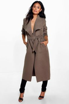 Kate Belted Shawl Collar Coat - Coats & Jackets - Street Style, Fashion Looks And Outfit Ideas For Spring And Summer 2017 Suede Trench Coat, Camel Coat, Wool Coat, Trench Coats, Moka, Stylish Winter Coats, Kimono, Summer Jacket, Raincoats For Women