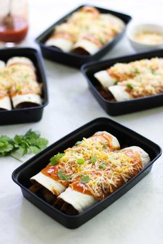 These Chicken Enchilada Meal Prep Bowls are perfect to spice your up meal prep for lunch or dinner! Just a few ingredients and easy to throw together!