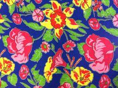 Chita azul com flores diversas -PCHAZ - Panoah