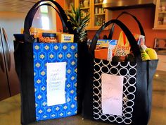 Re-usable grocery bag MAKEOVER...stronger, cuter, more practical