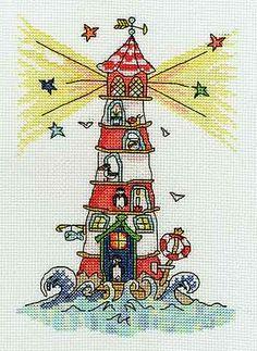 Sew Dinky Lighthouse Cross Stitch Kit by Bothy Threads