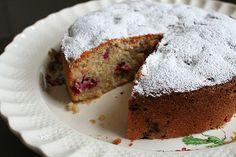 almond-apricot-raspberry cake