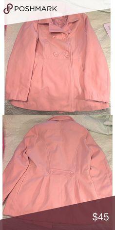 Blush Pea Coat Never worn! Very soft Xhilaration Jackets & Coats Pea Coats