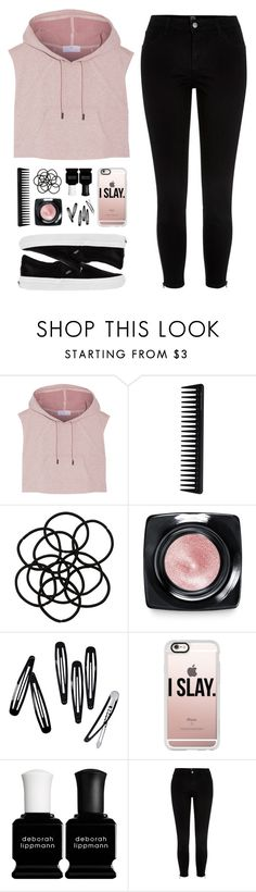 """""""G I R L"""" by felytery ❤ liked on Polyvore featuring adidas, GHD, Monki, Bobbi Brown Cosmetics, H&M, Casetify, Deborah Lippmann, River Island and Vans"""