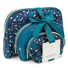 7bbf346b3678 Amazon.com   Adrienne Vittadini Women s three Dome Shaped Cosmetic Bag Set    Beauty Cosmetic