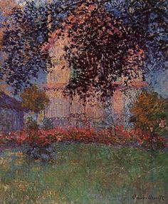 Claude Monet - Monet's House in. This piece shows texture quite well because it seems like it would have roughness, especially around the top.