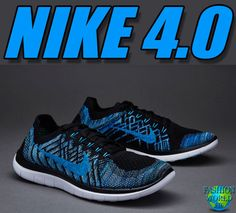 reputable site e2b90 ed355 Nike Free 4.0 Flyknit Mens Running Shoe SZ 12 Black Blue Lagoon Royal  717075 004