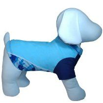 PlayaPup UV Protective Rash Guard Shirt in Light Camo, 5X-Large, Color:Blue