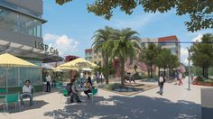 A view of the Holly Drive Retail Plaza in the Village, the new $134 million student housing complex set to open in phases at the University of South Florida in Tampa. [University of South Florida]