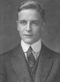 A young F. Scott Fitzgerald