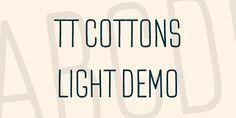 TT Cottons Light DEMO Font · 1001 Fonts