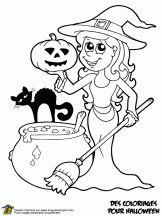 coloriage de sorcieres a imprimer awesome de coloriage halloween imprimer coloriage halloween gratuit Vintage Halloween Images, Halloween Pictures, Halloween Crafts For Kids, Halloween Kids, Fall Coloring Pages, Coloring Books, Halloween Coloring Sheets, Free Printable Coloring Pages, Drawings