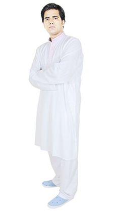 Mens Fashion Clothes Cotton Kurta Pajama Wedding Ethnic Clothing White Size L RoyaltyLane http://www.amazon.co.uk/dp/B0146GDHH6/ref=cm_sw_r_pi_dp_fUJQwb006CYBK