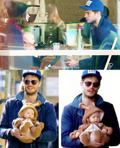 mllemileycyrus: Jamie Dornan, his wife Amelia and their baby in…   Jamie Dornan News