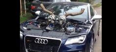Weil größer einfach besser ist : VIDEO: Kapitaler Audi RS7 mit mächtigem Turbo-Geweih