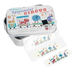 dotcomgiftshop plasters in circus parade tin Online Toy Stores, Online Gift Shop, Carnival Birthday Parties, Circus Party, London Gift Shop, Sweet Little Things, Carnival Themes, Baby Co, Vintage Circus