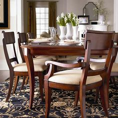 Louis-Philippe Dining Table by Bassett Furniture
