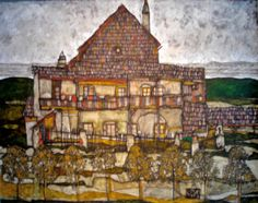 Egon Schiele (1890-1918); House with Shingle Roof, 1915, Leopold Museum, Vienna