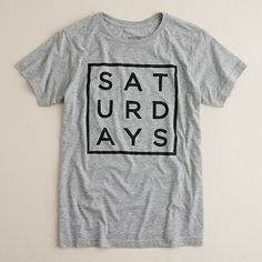 jcrew Saturdays square type tee - whenever i need to be reminded about why i'm working until 630 every work day