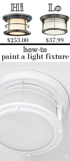 How to transform a metal ceiling light fixture with paint. It takes ho-hum to exactly what you want. | In My Own Style