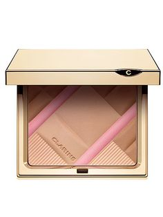 "#CosmoBestBeautyBuy Clarins face palette. ""This has a gorgeous silky texture, and swirled together with a blusher brush it makes for a natural-looking bronzer with a brightening hint of pink."""