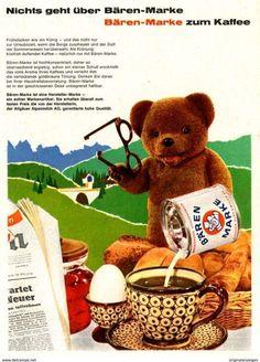 Historische Print - Werbung / Vintage Advertising saved to Vintage Print Ads / Reklame : Kaffee und Tee / Coffee and teaOriginal-Werbung/ Anzeige 1964 - BÄREN-MARKE KONDENSMILCH - Ca. 120 X 170 Mm -...