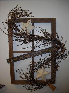 Original Design Primitive Window Frame, by Bushel Basket Candle Co.