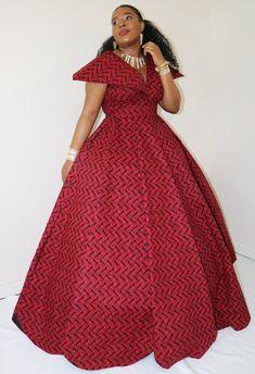 Ball gown/ball gown wedding dress/ball gown prom dress/ball gown for women/ball gown dress/red ball gown/prom dress/african clothing Long African Dresses, Latest African Fashion Dresses, African Print Dresses, Dress Fashion, Fashion Top, African Prints, Street Fashion, Fashion Outfits, Red Ball Gowns