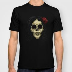 Day Of The Dead T-shirt by Adamzworld - $22.00