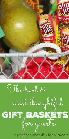 Have guests coming? Here's some ideas for gift baskets that will make them feel extra welcome! #SlimJimYourHoliday #CollectiveBias #ad