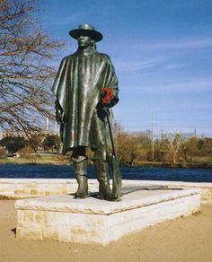 Stevie Ray Vaughan Memorial in Austin Texas - brilliant musician