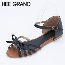 HEE GRAND Gladiator Sandals Bowtie Summer Style Buckle Platform Sandals Casual Flats Shoes Woman 3 Colors size 36-41 XWZ1738(China (Mainland))