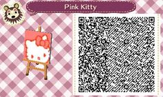 Pink Hello Kitty Animal Crossing:New Leaf QR code
