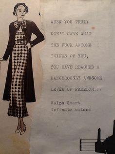 Ralph Smart quote Who cares Vintage paper quote Tanya Tokarski La Luna crafts and curiosities