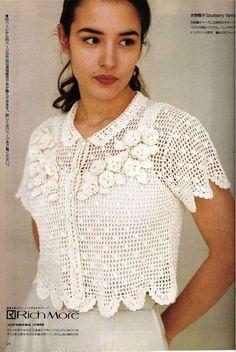 Stricken Häkeln: Crochet Bluse im Sommer