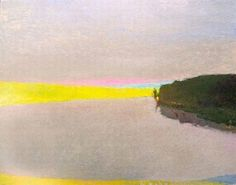Wolf Kahn, Light and Shadow on the River 2007, Oil on Canvas