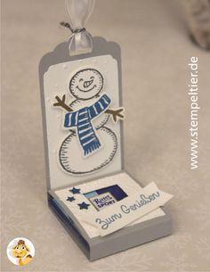 stampin up stempeltier snow friends es schneit schneemann snowman ritter sport verpackung tag etiketten stanze weihnachten winter 03
