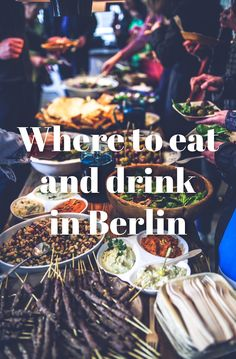 A tasty and chip list of places to eat and drink in Berlin. Done by locals, so no touristy traps =D
