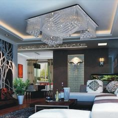 LightInTheBox ModernContemporary Crystal Beaded Ceiling Light with 13 G4 in Warm White Source Chandelier Lighting Fixture for Living Room Bedroom Voltage110V220V -- Check this awesome product by going to the link at the image.
