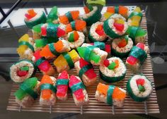 Under the sea bridal shower candy sushi from notsosinglegirl.com